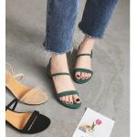 รองเท้าแฟชั่น รัดส้น แบบสวม ดีไซน์หนังสักหราดเส้นกลมสวยเก๋ หนังนิ่ม ทรงสวย ส้นสูงประมาณ 1 นิ้ว ใส่สบาย แมทสวยได้ทุกชุด