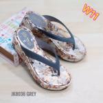 รองเท้าแฟชั่น ส้นมัฟฟิน แบบหนีบ ลายดอกไม้สวยหวาน ใส่สบาย แมทสวยได้ทุกชุด (JK8036)