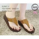 รองเท้าแตะแฟชั่น เพื่อสุขภาพ แบบหนีบ แต่งคลิสตัลเพชรสวยหรูเป็นประกาย พื้นซอฟ คอมฟอตนิ่มสไตล์ฟิตฟลอบ ใส่สบาย แมทสวยได้ทุกชุด (TA104)