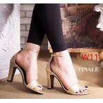 รองเท้าแฟชั่น ส้นสูง แบบสวม รัดข้อ ทรงสวยเรียบเก๋ หนังนิ่ม ใส่สบาย ส้นสูงประมาณ 3 นิ้ว แมทสวยได้ทุกชุด