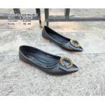รองเท้าคัทชู ส้นแบน ทรงหัวแหลม แต่งอะไหล่เพชรด้านหน้าสวยหรูมาก หนังนิ่ม พื้นนิ่ม ใส่สบาย แมทสวยได้ทุกชุด (CA9940)