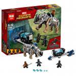 เลโก้จีน LEPIN.07100 ชุด Black Panther Rhino Face-Off by the Mine