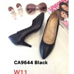 รองเท้าคัทชู ส้นสูง แต่งขอบปักหัวใจสวยเรียบเก๋ ทรงสวย หนังนิ่ม พื้นนิ่ม ส้นสูงประมาณ 3 นิ้ว ใส่สบาย แมทสวยได้ทุกชุด (CA9644)