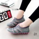 รองเท้าผ้าใบแฟชั่น ทรงสวยเพรียวลายสวยเท่ห์ นุ่มและใส่สบาย วัสดุผ้ายืดอย่างดีนิ่มยืดหยุ่น ใส่เดิน วิ่ง ปั่นจักรยาน หรือลำลองได้หมด ใส่ละดูเท้าเล็กเรียวกระชับมากๆ พื้นถอดซักได้ แมทสวยได้ทุกชุด (8271)
