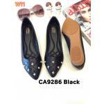 รองเท้าคััทชู ส้นแบน หนังฉลุลายดอกไม้แต่งหมุดสวยหวาน หนังนิ่ม พื้นนิ่ม ใส่สบาย แมทสวยได้ทุกชุด (CA9286)