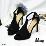 รองเท้าแฟชั่น ส้นสูง แบบสวม รัดข้อ ทรงสวยเก็บเท้าเรียว ส้นสูงประมาณ 4 นิ้ว หนังนิ่ม ใส่สบาย แมทสวยได้ทุกชุด (G5260)