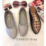 รองเท้าคัทชู ส้นแบน แต่งขอบสวยเรียบเก๋น่ารัก ทรงสวย หนังนิ่ม พื้นนิ่ม ใส่สบาย แมทสวยได้ทุกชุด (CA9633)