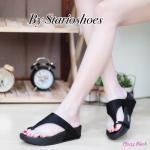 รองเท้าแตะแฟชั่น เพื่อสุขภาพ แบบสวมนิ้วโป้ง แต่งเพชรสวยเก๋ พื้นซอฟคอมฟอตนิ่ม สไตล์ฟิตฟลอบ ใส่สบาย แมทสวยได้ทุกชุด (pf2154)