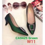 รองเท้าคัทชู ส้นเตี้ย แต่งอะไหล่สวยหรู หนังนิ่ม ทรงสวย ส้นสูงประมาณ 1.5 นิ้ว ใส่สบาย แมทสวยได้ทุกชุด (K9425)