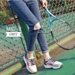 รองเท้าผ้าใบแฟชั่น แต่งลายสวยเท่ห์สไตลเกาหลี วัสดุอย่างดี ทรงสวย ใส่สบาย ใส่เที่ยว ออกกำลังกาย แมทสวยเท่ห์ได้ทุกชุด (MK158)