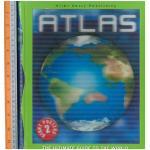 atlas -ปกแข็ง โปสเตอร์แผนที่โลก มีหน้าขยาย