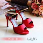 รองเท้าแฟชั่น ส้นสูง สวยหรู แบบสวม แต่งคาดทอง ทรงสวยเก็บหน้าเท้า ใส่แล้วดู เพียว ส้นสูงประมาณ 3 นิ้ว เสริมหน้า ใส่สบาย แมทสวยได้ทุกชุด (G5-102)