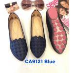 รองเท้าคัทชู เปิดแบน แต่งลายฉลุสวยหวาน หนังนิ่ม ทรงสวย ใส่สบาย แมทสวยได้ทุกชุด (CA9121)
