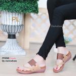 รองเท้าแฟชั่น ส้นเตารีด แบบหนีบ และคาดสวม สไตล์ลำลอง สีทูโทนสวยเก๋ ใส่สบาย แมทสวยได้ทุกชุด (Pf1898)