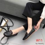 รองเท้าคัทชู ทรง loafer แต่งเชือกร้อบขอบผูกโบว์หน้าสวยเก๋ หนังนิ่ม พื้นนิ่ม พื้นยางยืดหยุ่น ทรงสวย ใส่สบาย แมทสวยได้ทุกชุด (K5964)