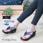 รองเท้าแฟชั่น ส้นเตารีด แบบหนีบ แต่งคลิสตัลเพชรสีไล่โทนสวยหรู ทรงสวย ใส่สบาย แมทสวยได้ทุกชุด (PU6054)