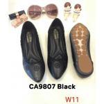 รองเท้าคัทชู ส้นแบน แต่งขอบปักลายสวยเก๋ หนังนิ่ม ใส่สบาย แมทสวยได้ทุกชุด (CA9807)