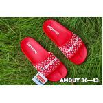 รองเท้าแตะแฟชั่น แบบสวม แต่งลายโมโนแกรม Supreme สไตล์ LV สุดเก๋ พื้นยางนิ่มยืดหยุ่น วัสดุอย่างดี ทรงสวย ใส่สบาย แมทสวยได้ทุกชุด