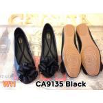 รองเท้าคัทชู ส้นแบน แต่งโบว์ดอกไม้สวยหวาน หนังนิ่ม พื้นนิ่ม ใส่สบาย แมทสวยได้ทุกชุด (CA9135)