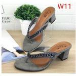รองเท้าแฟชั่น ส้นสูง แบบหนีบ หนังสักหราดแต่งโซ่สวยเก๋สไตล์แบรนด์ ทรงสวยหนังนิ่ม ใส่สบาย ส้นสูงประมาณ 2.5 นิ้ว แมทสวยได้ทุกชุด (J326)