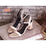 รองเท้าแฟชั่น ส้นสูง รัดข้อ สายรัดแต่งโซ่สวยเก๋ ส้นสูงประมาณ 2.5 นิ้ว แมทสวยได้ทุกชุด