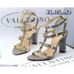 รองเท้าแฟชั่น ส้นสูง รัดข้อ ดีไซน์หนังเส้นแต่งหมุดสไตล์วาเลนติโน ส้นสูงประมาณ 4 นิ้ว ทรงสวย ใส่สบาย แมทสวยได้ทุกชุด