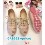 รองเท้าคัทชู ส้นแบน แต่งฉลุลายดอกไม้ สีไล่โทนสวยน่ารัก ทรงสวย หนังนิ่ม ใส่สบาย แมทสวยได้ทุกชุด (CA9662)