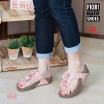 รองเท้าแตะแฟชั่น แบบหนีบ แต่งดอกไม้สวยหวาน พื้นซอฟคอมฟอตนิ่มสไตล์ฟิตฟลอบ ใส่สบายมาก แมทสวยได้ทุกชุด (F1081)