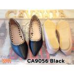รองเท้าคัทชู ส้นแบน แต่งฉลุรอบขอบรองเท้าสวยเก๋ ใส่สบาย ทรงสวย แมทสวยได้ทุกชุด (CA9056)