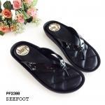 รองเท้าแตะแฟชั่น แบบหนีบ หนังเงาเมทัลลิค พื้นโซฟานวมนิ่ม ใส่สบายมาก พื้นเย็บแน่นหนา สวยมาก หนังนิ่ม ทรงสวย ใส่สบาย แมทสวยได้ทุกชุด สีดำ สีเทา สีพีช (PF2300)