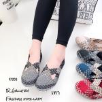 รองเท้ายางสาน เพื่อสุขภาพ วัสดุผ้ายืดอย่างดีทอลายสลับสีสวยเก๋ ส้นยางคุณภาพดีกันลื่น น้ำหนักเบามีความยืดหยุ่นสูงหนา 0.5 นิ้ว ใส่สวยเก๋มีสไตล์ สินค้างานคุณภาพนิ่มมาก ดีไซน์มารับกับฝ่าเท้า ทรงสวย ใส่สบาย แมทสวยได้ทุกชุด กรม ครีม ดำ แดง เทา (F7203)