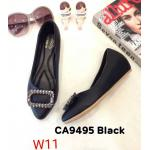 รองเท้าคัทชู ส้นเตารีด หนังนิ่ม แต่งอะไหล่สวยหรู ทรงสวย ส้นสูงประมาณ 2 นิ้ว ใส่สบาย แมทสวยได้ทุกชุด (CA9495)