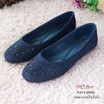 รองเท้าคัทชู ส้นแบน แต่งเพชรคลิสตัลด้านหน้าเรียบหรู ดูแพง ด้านในบุนวมนิ่มอย่างดี น้ำหนักเบา มีส้นเล็กๆ สูง 1 cm. ทรงสวย ใส่สบาย แมทสวยได้ทุกชุด (9752)