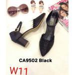 รองเท้าคัทชู รัดส้น ส้นสูง ฉลุลายสวยหวาน ทรงสวย ส้นสูงประมาณ 2.5 นิ้ว ใส่สบาย แมทสวยได้ทุกชุด (CA9502)