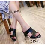 รองเท้าแฟชั่น แบบสวม ด้านหน้า H สไตล์แอร์เมส เรียบเก๋ดูดี หนังนิ่ม ส้นสูงประมาณ 2.5 นิ้ว แมทสวยได้ทุกชุด (D10-11)