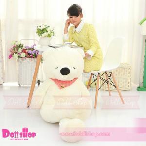 ตุ๊กตาหมีหลับ white 1.6 เมตร
