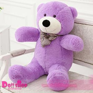ตุ๊กตาหมียิ้ม purple 0.8 เมตร