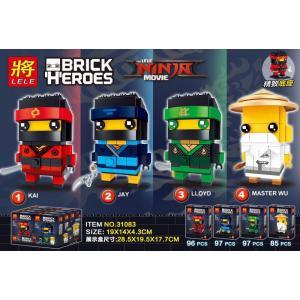 เลโก้จีน LELE.31083 ชุด Brick Heads Ninja Go