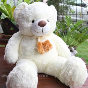 ตุ๊กตาหมีผูกผ้าพันคอสีขาว 1.1 เมตร