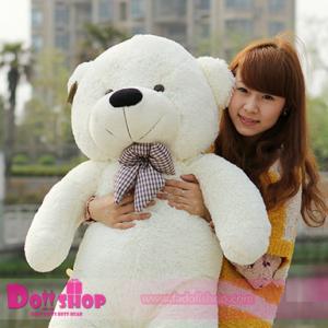 ตุ๊กตาหมียิ้ม White 1.4 เมตร
