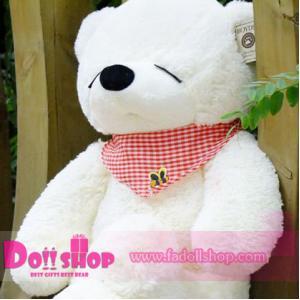 ตุ๊กตาหมีหลับ white 0.8 เมตร
