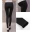 กางเกงเลกกิ้งคนท้องขายาวเอวต่ำ สีดำ thumbnail 3