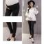 กางเกงเลกกิ้งคนท้องขายาวเอวต่ำ สีดำ thumbnail 2