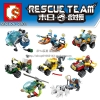เลโก้จีน SD.9196-9203 ชุด City Rescue Team