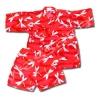 ชุดจิมเบอิ สีแดง ลายแมงปอ S110