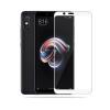 Xiaomi Redmi Note 5 / Redmi Note 5 Pro ฟิล์มกระจกนิรภัยเต็มจอ 9H (ขอบขาว)