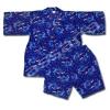 ชุดจิเบอิ สีน้ำเงิน ลายมังกร S110