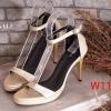 รองเท้าแฟชั่น แบบสวม ส้นสูง รัดข้อ ZARA Style สวยเรียบหรู วัสดุหนังอย่างดี นิ่มไม่บาดเท้า ใส่ง่ายเป็นสายเกี่ยว ปรับกระชับเท้าได้ ส้นสูงกำลังดี 3 นิ้ว ใส่สบาย แมทสวยได้ทุกชุด