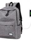 Back pack(กระเป๋าเป้ สะพายหลัง) BA081 สีเทา พร้อมส่ง
