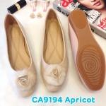 รองเท้าคัทชู ส้นแบน แต่งขนเฟอร์ดอกไม้ฟูนุ่มสวยหวานน่ารัก ทรงสวย หนังนิ่ม ใส่สบาย แมทสวยได้ทุกชุด (CA9194)